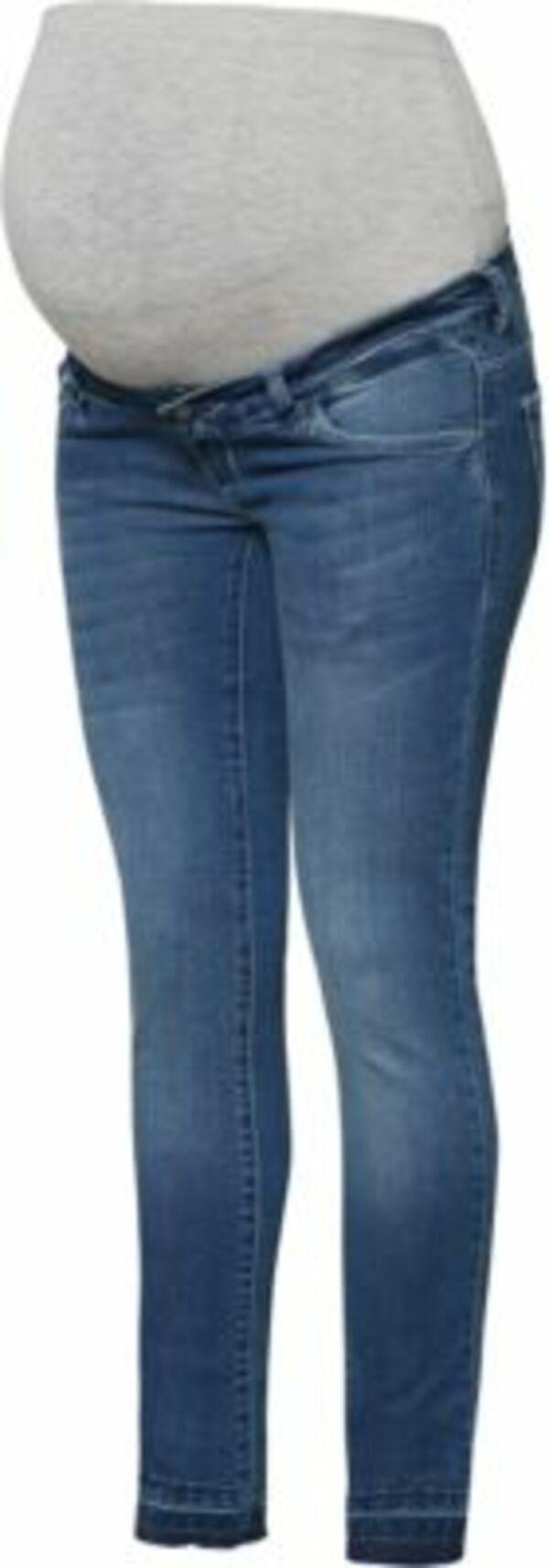 Umstandsjeans MLULRIKA, slim dark blue denim Gr. W28/L34 Damen Kinder
