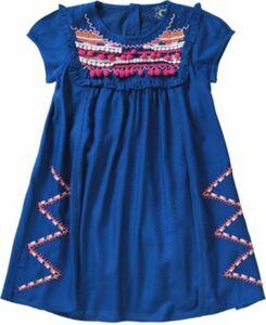 Kinder Kleid blau Gr. 104/110 Mädchen Kleinkinder