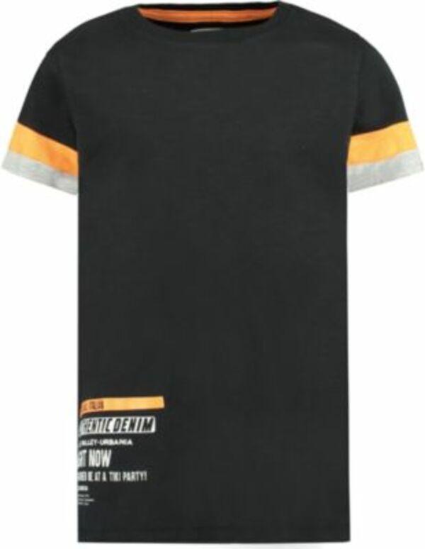 T-Shirt schwarz Gr. 128/134 Jungen Kinder