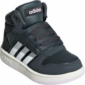 Baby Sneakers High HOOPS MID 2.0 dunkelgrau Gr. 25 Mädchen Kleinkinder