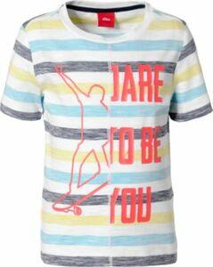 T-Shirt mit Print weiß Gr. 104/110 Jungen Kleinkinder
