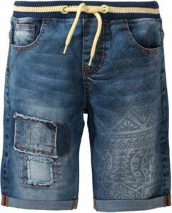 Jeansshorts mit Bündchen blue denim Gr. 122/128 Jungen Kinder
