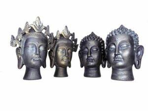 Buddha-Köpfe, 4er Set