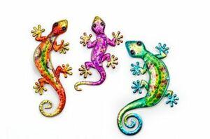 "Wanddeko ""Salamander"", 3er-Set"