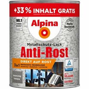 Alpina Metallschutz-Lack Anti-Rost Dunkelgrau Hammerschlag 1 l