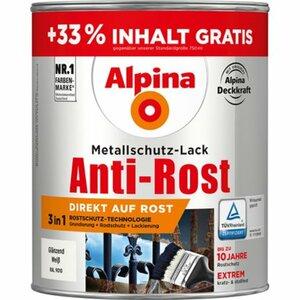 Alpina Metallschutz-Lack Anti-Rost Weiß glänzend 1 l