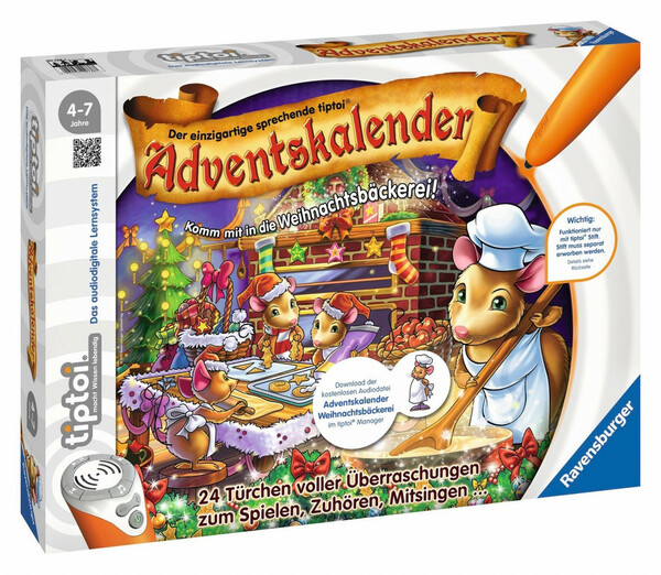 Ravensburger tiptoi-Adventskalender Weihnachtsbäckerei