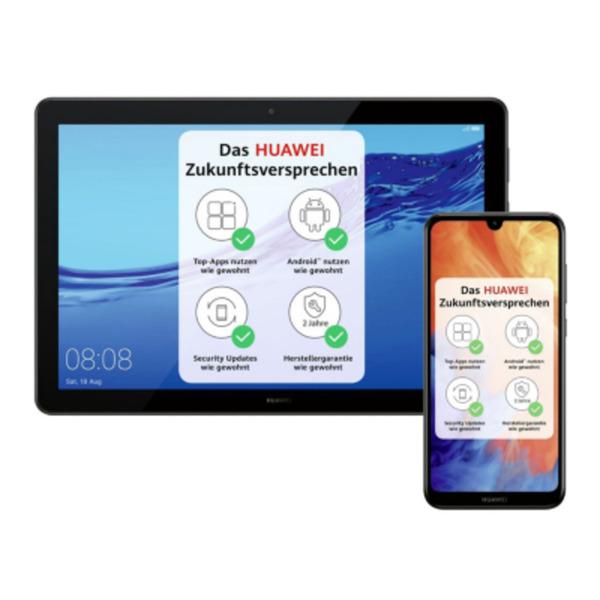 HUAWEI Y7 2019 midnight black Smartphone + MediaPad T5 10 Tablet WiFi 32GB black