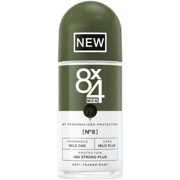 8x4 MEN Antitranspirant Roll-on No8 Wild Oak 4.98 EUR/100 ml