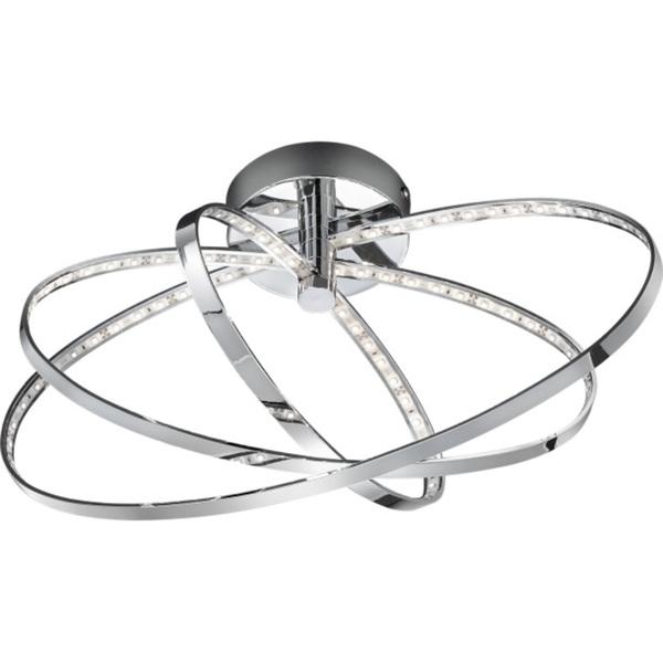 LED-Deckenleuchte Prater Chrom 3-flammig