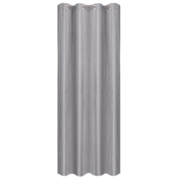 Ösenvorhang Satin Crash Silber ca. 130 x 245 cm