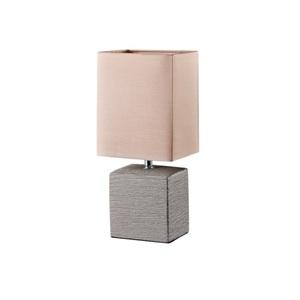 Tischlampe Ping Keramik Creme/Stoffschirm Beige