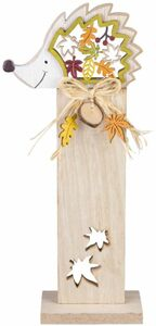 Standdeko - Igel - aus Holz - 11 x 6,5 x 34 cm
