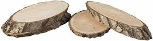 Holzscheiben - 13 x 7 cm - 4 Stück
