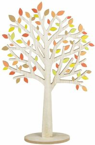 Standdeko - Baum - aus Holz - 20 x 9 x 58,5 cm