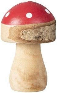 Pilz - aus Holz - 4 x 4 x 6,5 cm