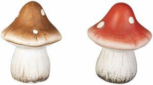 Pilz - aus Terrakotta - 6,5 x 6,5 x 7,5 cm - 1 Stück