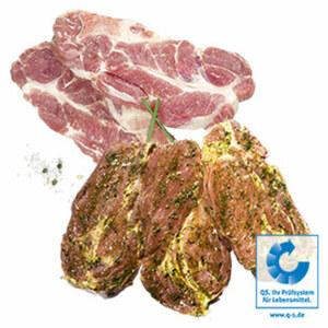 Frisches Schweinenackenkotelett natur oder gewürzt, je 1 kg