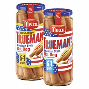 Meica Trueman´s Hot Dog versch. Sorten,  jedes 7 Stück = 350-g-Glas