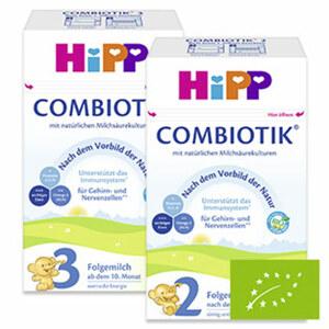 Hipp Bio Combiotik Folgemilch 2 oder 3, jede 600-g-Packung