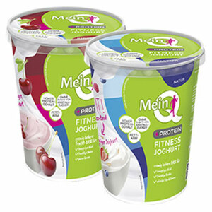 Mein Q Fitness Joghurt + Protein versch. Sorten, jeder 450-g-Becher