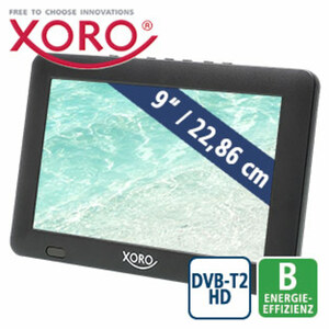 "Portabler 9""-LCD-TV PTL 900 mit DV B-T2 • Aufnahme-Funktion über USB (PVRready) • USB-Anschluss, microSD™-Kartenslot • inkl. Netzteil, 12-Volt-Adapter, Antenne, Kopfhörer und Fernbedienun"