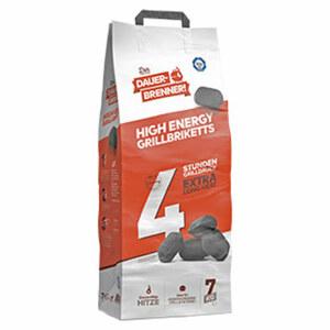 Dauerbrenner Grillbriketts 7 kg aus reinem und veredeltem Kohlenstoffkonzentrat, lange Standzeit und gleichmäßige Hitze bis zu 4 Stunden