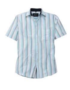 Bexleys man - Freizeithemd, kurzarm, gestreift, SEERSUCKER