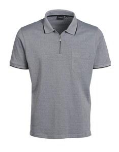Bexleys man - Polo-Shirt uni mit Reißverschluss
