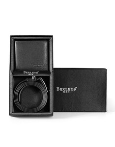 Bexleys man - Herren- Geschenkset Ledergürtel und Lederbörse
