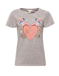 Esprit - Shirt mit Glitzer-Frontprint