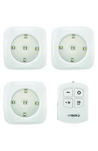 Heitech LED-Licht mit Fernbedienung 3er Set