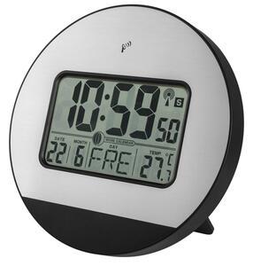 Funkwanduhr / -tischuhr mit Temperatur, Datum, Mondphase, LAUTLOS