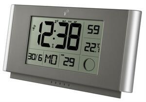 Funkwanduhr / -tischuhr mit Temperatur, Kalenderwoche, Mondphase, LAUTLOS