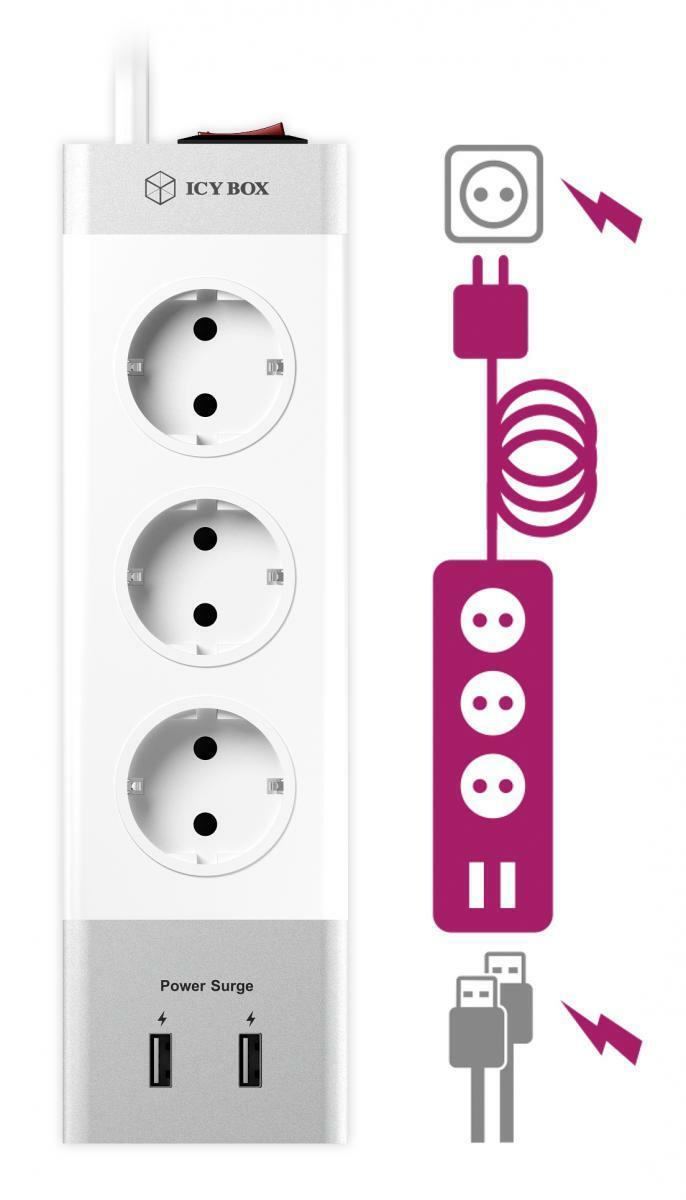 Bild 3 von ICY BOX IB-CB004-S Verlängerungskabel