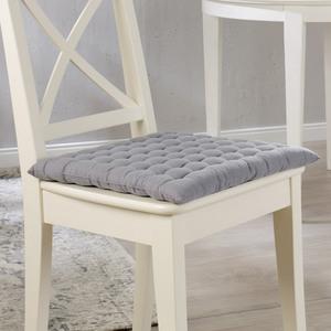 Bella Casa Baumwoll-Sitzkissen, ca. 40 x 40 cm, Silber - 4er Set