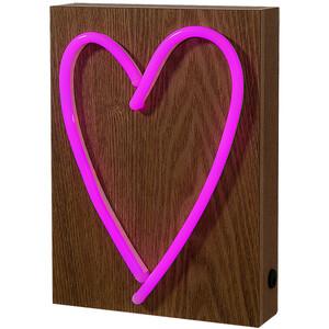 """Neon Lichtobjekt """"Love"""" 17x23x6cm"""