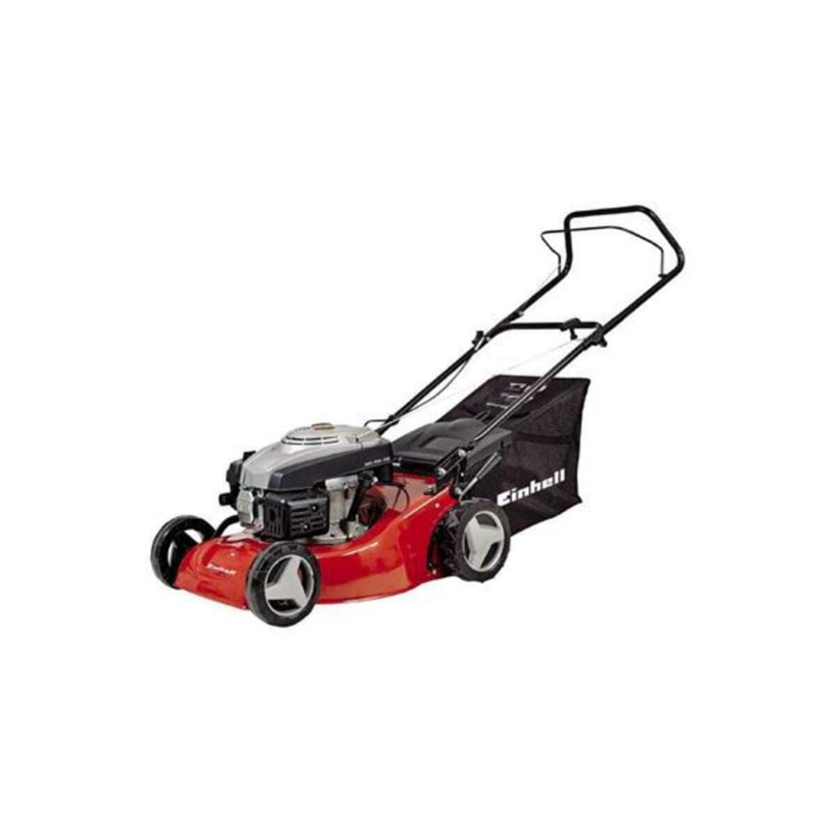 Bild 2 von Einhell Benzin Rasenmäher GC-PM 46, Leistung 1,9 kW, 1 Zylinder, 4-Takt-Motor, Schnittbreite 46 cm, Schnitthöhenverstellung zentral,  9 Stufen, 30-80 mm, Fangsackvolumen 50 Liter, 3404730
