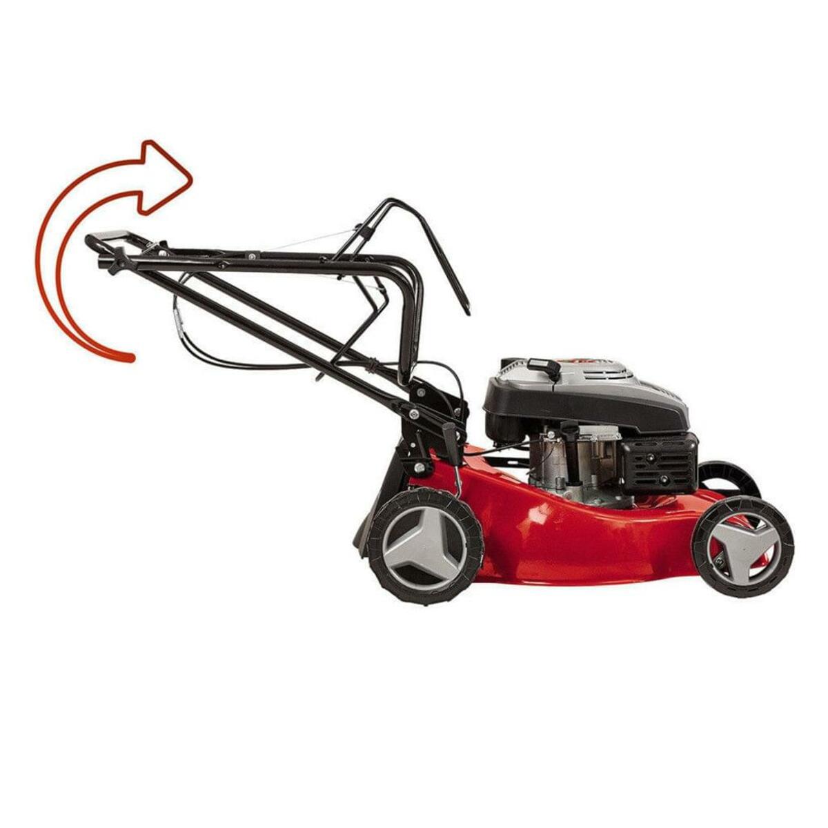 Bild 5 von Einhell Benzin Rasenmäher GC-PM 46, Leistung 1,9 kW, 1 Zylinder, 4-Takt-Motor, Schnittbreite 46 cm, Schnitthöhenverstellung zentral,  9 Stufen, 30-80 mm, Fangsackvolumen 50 Liter, 3404730