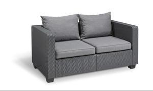 Salta Lounge 2-Sitzer-Sofa Graphitgrau