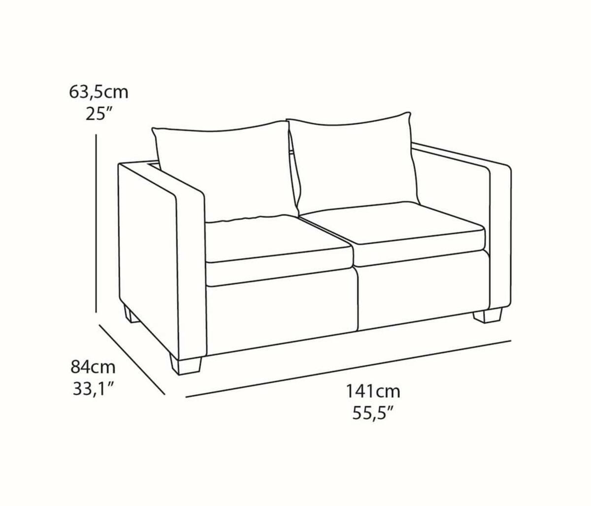 Bild 4 von Salta Lounge 2-Sitzer-Sofa Graphitgrau