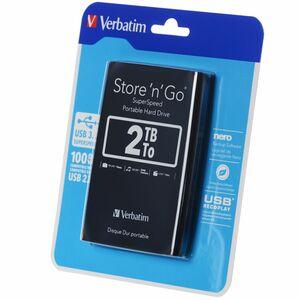 Verbatim Store `n` Go Portable - Festplatte - 2 TB - extern ( tragbar ) - USB 3.0 - 5400 rpm