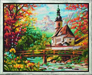 Noris Spiele Malen nach Zahlen - St.Sebastian in der Ramsau; 609430729