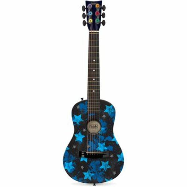 Jazwares FG16010700 - First Act Discovery - Akustikgitarre - Blue Rock Stars - Gitarre für Kinder