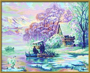 Noris Spiele Malen nach Zahlen - Winter am Bergsee; 609130700