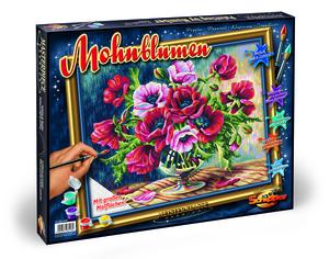 Noris Spiele Malen nach Zahlen - Mohnblumen; 609350548