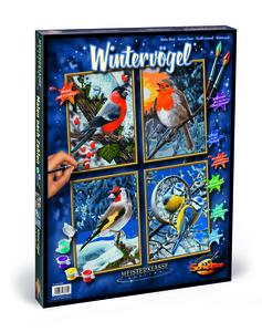 Noris Spiele Malen nach Zahlen - Wintervögel (Quattro); 609340661