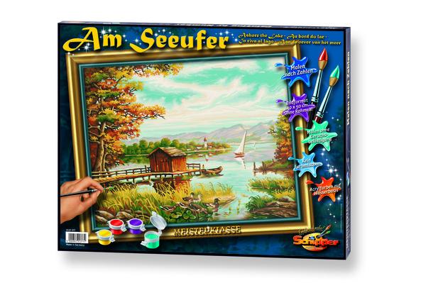 Noris Spiele Malen nach Zahlen - Am Seeufer; 609130377