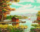 Bild 2 von Noris Spiele Malen nach Zahlen - Am Seeufer; 609130377