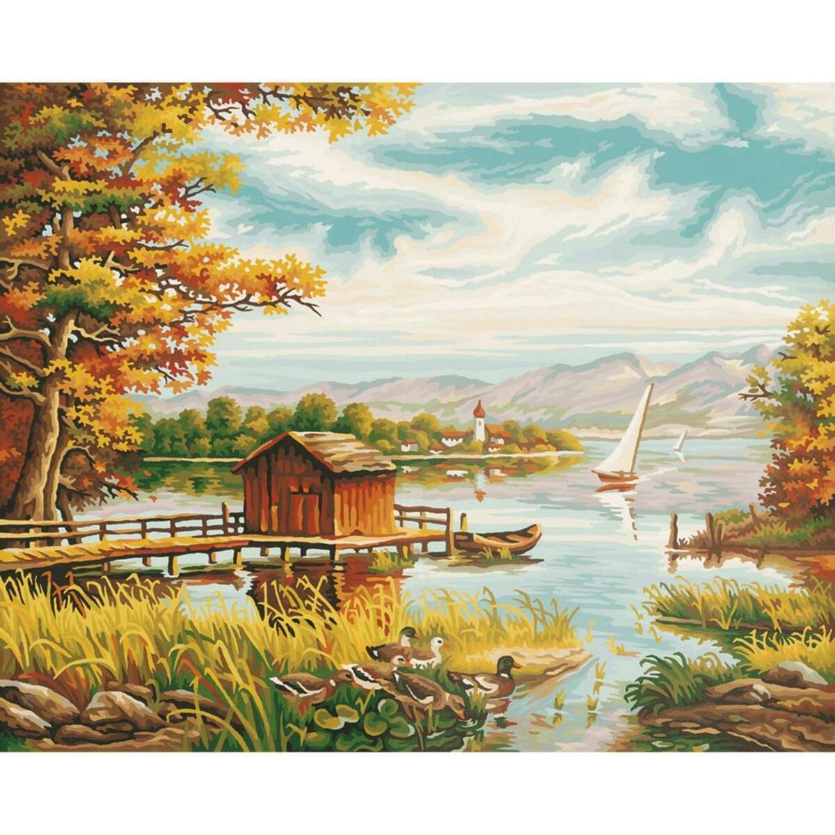 Bild 3 von Noris Spiele Malen nach Zahlen - Am Seeufer; 609130377